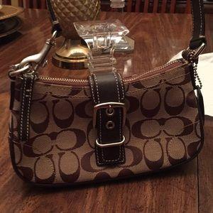 Coach brown small bag
